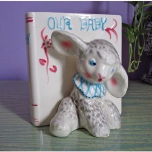 "1950's NAPCO Vase ""Our Baby"" Lamb"